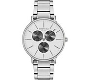 Kenneth Cole NY Mens Silver Stainless BraceletWatch - J380706
