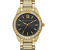 Sean John Mens Goldtone Crystal Bracelet Watch - J380806