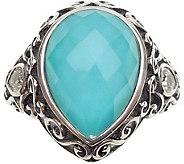 Elyse Ryan Sterling Pear Shaped Gemstone Ring - J383506