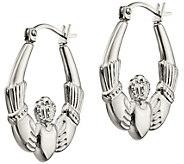 Steel by Design 1-1/8 Claddagh Hoop Earrings - J383806