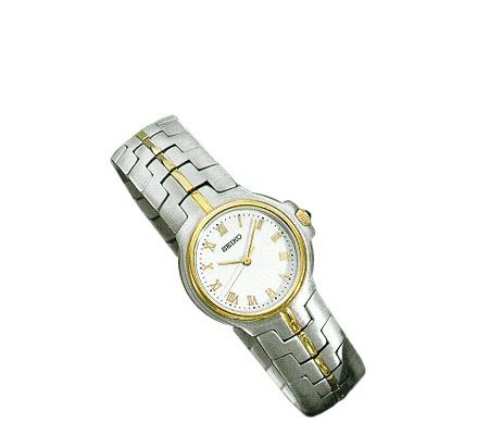 seiko sonata 18k gold stainless steelwatch qvc