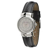 As Is Arte dArgento Sterling Round Case Leather Strap Watch - J271507