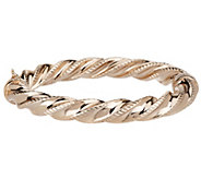 Bronze Average Twist Polished & Diamond Cut Bangle by Bronzo Italia - J287007