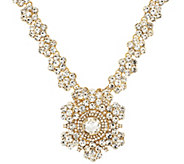 Joan Rivers Crystal Rosette 18 Necklace w/ Removable Brooch - J293607