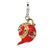 Amore La Vita Sterling Gold-Plated Red TeapotCharm - J299807