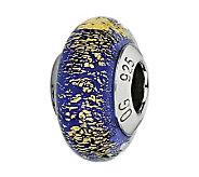 Prerogatives Sterling Blue & Gold Italian Murano Glass Bead - J300207