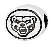Sterling Silver Oakland University Bead - J300807