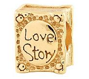 Prerogatives 14K Gold-Plated Sterling Love Story Book Bead - J302707