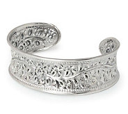 Novica Artisan Crafted Sterling Flower of Lanna Cuff - J303907