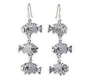 Novica Artisan-Crafted Sterling Thai Fish Earrings - J304207