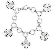 Stainless Steel Maltese Cross Charm Bracelet - J317207
