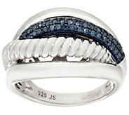 Color Textured Diamond Ring, Sterling, 1/4 cttw, by Affinity - J318507