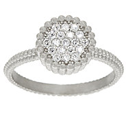 Vicenza Silver Sterling Pave Diamonique Ring - J322707
