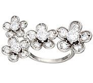 Diamonique Floral Design Ring, Sterling - J324407