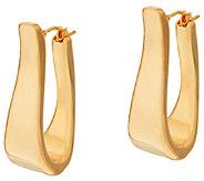 As Is Oro Nuovo 1-1/4 Elongated Oval Hoop Earrings, 14K - J327307