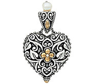 Barbara Bixby Sterling & 18K Heart Shaped Locket Enhancer - J328207
