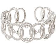 Judith Ripka Sterling or 14K Clad Diamonique Cuff Bracelet - J328807