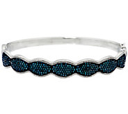 Blue Diamond Large Bangle, Sterling, 2.00 cttw, by Affinity - J331107