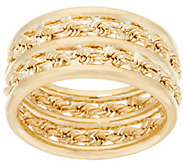 As Is EternaGold Polished & Rope Band Ring, 14K Gold - J331507