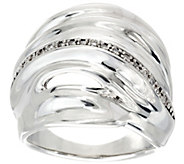 As Is Hagit Sterling Silver Diamond Ring - J332507