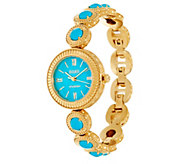 Ecclissi Facets Stainless Steel Turquoise Adjustable Watch - J334307
