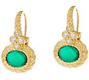 Judith Ripka Sterling & 14K Clad Green Goddess Earrings - J335207