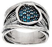 Sterling Silver Gemstone Cluster Ring by Or Paz - J335807