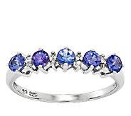 Sterling Tanzanite Round 5-Stone Band Ring - J336607