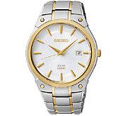 Seiko Mens Two-Tone Dress Bracelet Watch - J337507
