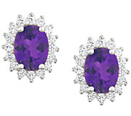Premier 2.00cttw Oval Amethyst & Diamond Earrings, 14K - J338207