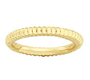 Simply Stacks Sterling & 18K Gold Plated RibbedTextured Ring - J338907