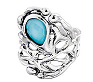 Hagit Sterling Silver & Turquoise Doublet Ring - J339507