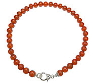 Judith Ripka Sterling and Carnelian Bead 18 Necklace - J339807