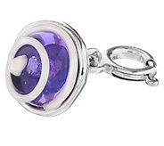 Kalos by Hagit Sterling and Glass Swirl Charm - J340707