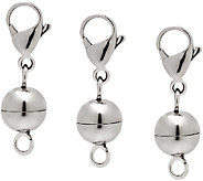 Stainless Steel Set of 3 Magenetic Bead Clasps - J341407