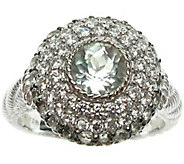 Judith Ripka Sterling Diamonique & Birthstone Ring - J341607