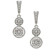 Judith Ripka Sterling Diamonique Dangle E arrings - J341707