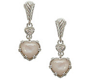 Judith Ripka Sterling & Heart Dangle Earrings - J342707