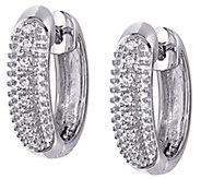 Diamond Accent Huggie Hoop Earrings, 14K - J343907