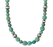 American West Jennifer Nettles Green TurquoiseBeaded Necklace - J344607