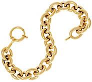 As Is 14K Gold 7-1/4 Polished Oval Rolo Link Bracelet, 11.6g - J348407
