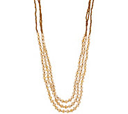 31 Bits Triple Strand Beaded Dreamer Necklace - J349307