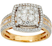 As Is 1.00 cttw Cushion Cluster Diamond Ring 14K Gold by Affinity - J350607