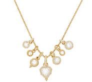 Judith Ripka 14K Clad 9.50 cttw Diamonique Charm Necklace - J352307