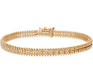 Imperial Gold 6-3/4 Starlight Bracelet, 14K Gold, 9.1g - J352507