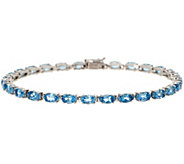 Santa Maria Aquamarine 7-1/4 Tennis Bracelet, 5.20 cttw, 14K - J356807