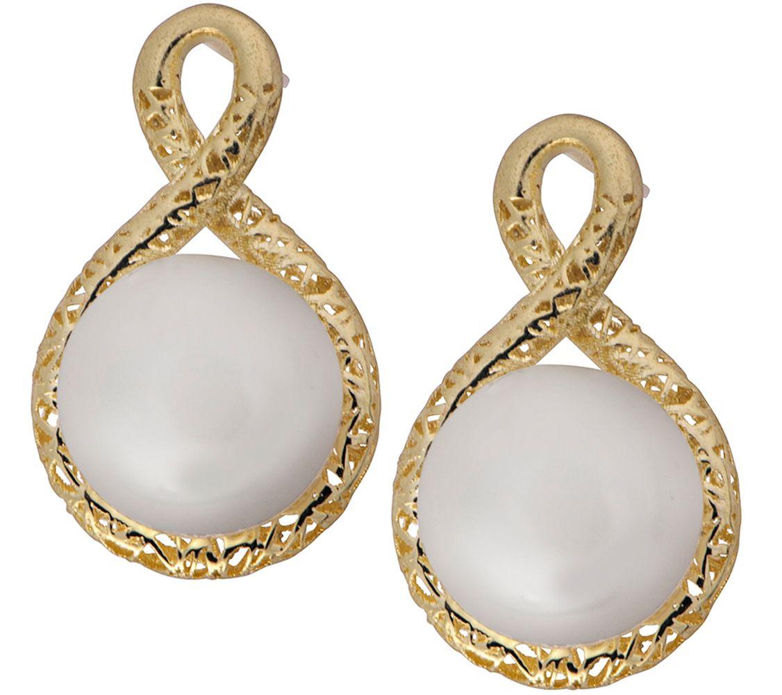 adi paz 14k gold cultured pearl earrings