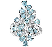 Sterling 3.00 cttw Apatite & White Zircon Cocktail Ring - J375807