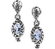 Carolyn Pollack Sterling Silver Brilliant WhiteTopaz Earrings - J375907