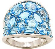 Sterling 7.00 cttw Sky Blue Topaz Tapered BandRing - J376007